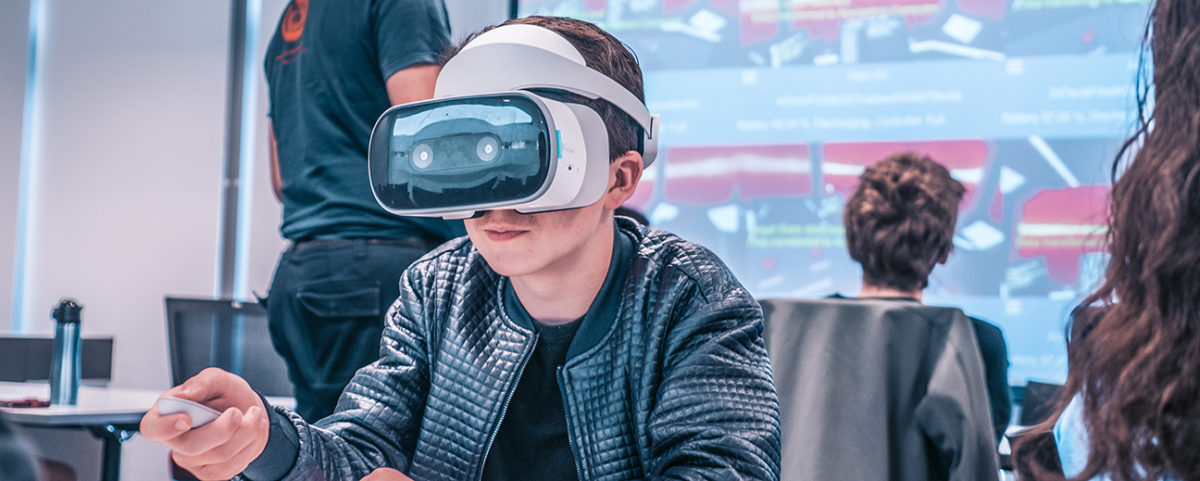 Student in Virtual Reality